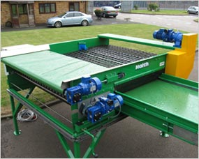 Supaflow Screen Grading Module - Full width conveyor to reduce damage