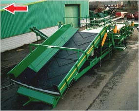 Supaflow 2400 - mobile system, cleaning, grading, inspection, second grade and bag filling