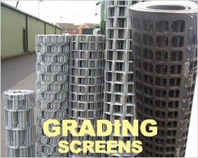 Grading Screens to suit any make of machine - hexagon, square, rubber