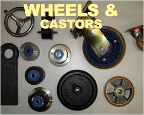 Castors and Wheels - web support rollers, web drive pulley