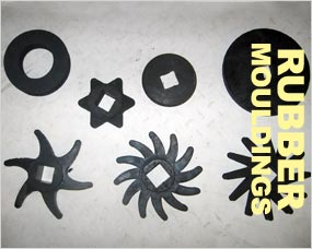 Rubber mouldings - Donut Rings, Rubber Star Fingers, Cushion Stars, Rubber Discs