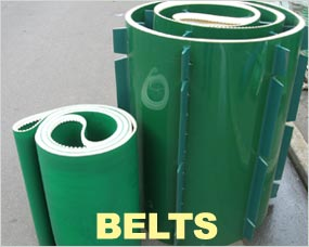 Belts - PVC, Flighted, Side Track, Centre Track, Chevron and Rubber Flighted