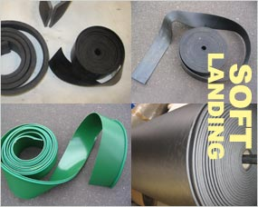 Soft Landing - Materials, PVC and Rubber Belt Skirting, Sponge Strip