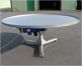 Rotary packing table - can be manufactured in 1000, 1200, 1800 dia Vari or fixed  speed