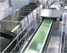 Packing system with product feed, automatic store hopper feeding weigher and bag handling